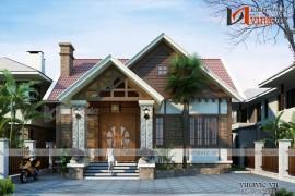 Thiết kế biệt thự mini 1 tầng phong cách hiện đại BT1613