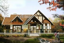 Mẫu thiết kế nhà biệt thự 1 tầng đẹp gần gũi thiên nhiên BT1625