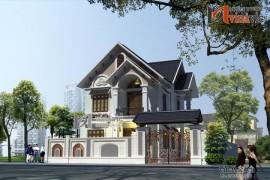 Mẫu nhà đẹp 2 tầng phong cách tân cổ điển BT1498