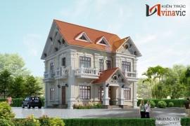 Mẫu nhà đẹp 2 tầng phong cách tân cổ điển BT1421