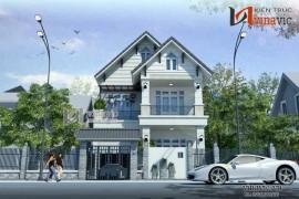 Nhà đẹp 2 tầng với gam màu trắng nhẹ nhàng BT1469