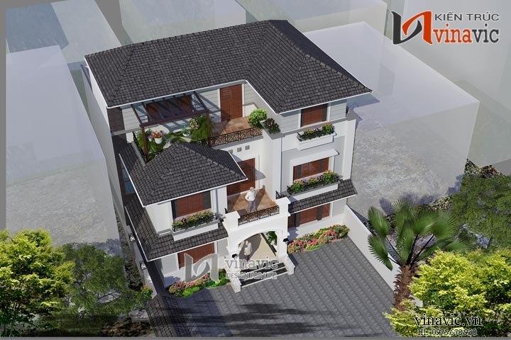 Mẫu thiết kế nhà biệt thự đẹp 3 tầng hiện đại BT1419