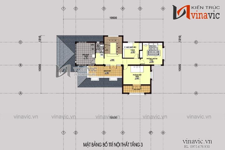 Mẫu thiết kế nhà biệt thự hiện đại 3 tầng sang trọng và nổi bật BT1516