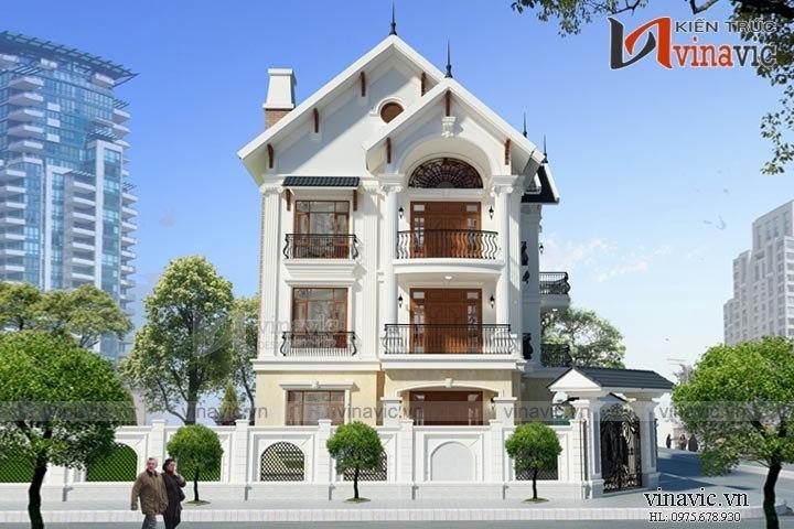 Biệt thự phố 3 tầng 130m2 4 phòng ngủ 1 P.Khách, P.Bếp + Ăn, 1 P.WC BT1526