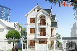 Thiết kế nhà biệt thự đẹp 3 tầng phong cách tân cổ điển BT1632
