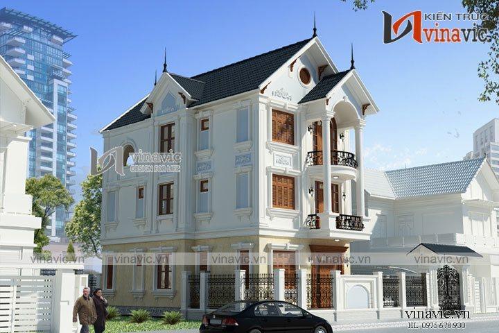 Biệt thự 3 tầng 120m2 thiết kế tân cổ điển ở Phủ Lý- Hà Nam BT1632