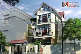 Mẫu thiết kế nhà biệt thự đẹp 3 tầng phong cách hiện đại BT1409