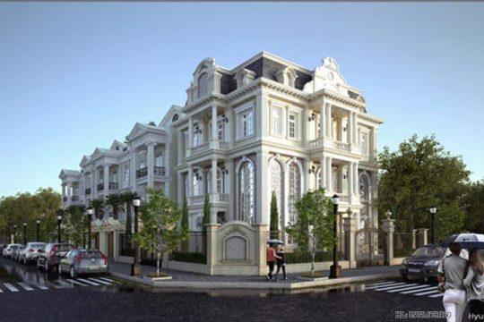 Nhà biệt thự đẹp 3 tầng cổ điển và sang trọng BT1417