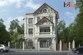 Mẫu thiết kế nhà biệt thự 3 tầng phong cách cổ điển BT1428