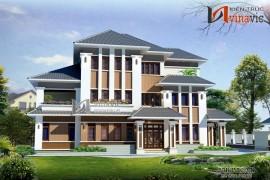 Mẫu thiết kế nhà biệt thự đẹp 3 tầng hiện đại BT1438