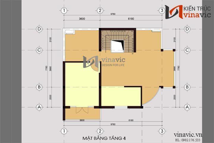 Nhà biệt thự đẹp 4 tầng kết hợp kinh doanh BT1425