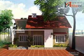 Mẫu thiết kế biệt thự nhà vườn 1 tầng đẹp BT1414