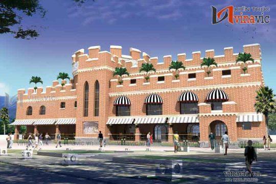 Mẫu thiết kế nhà hàng đẹp sang trọng và đẳng cấp NH06
