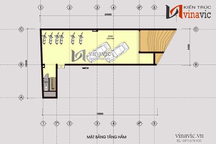 Mẫu nhà ở kinh doanh văn phòng thiết kế ấn tượng phá cách NO1421