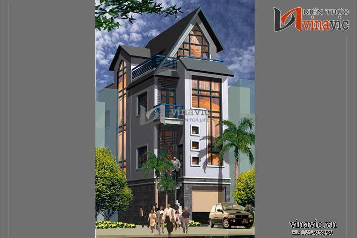Thiết kế nhà phố 4 tầng đẹp không gian mở thông thoáng NO1417
