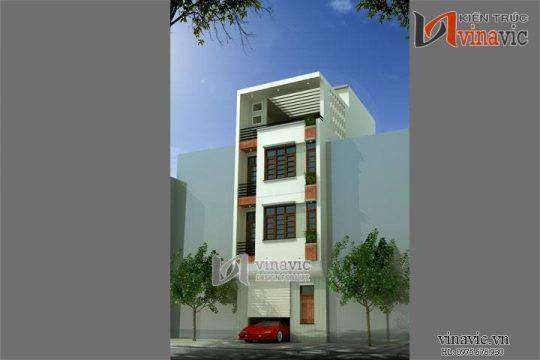 Xem mẫu thiết kế nhà ống đẹp 4,5 tầng diện tích 5 x 8,5m NO1436