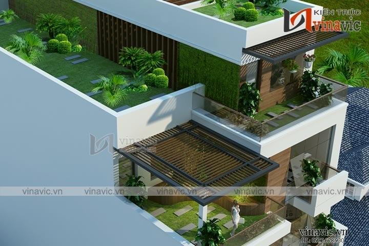 Mẫu thiết kế nhà ống 6 tầng phục vụ kinh doanh nhà hàng NO1611