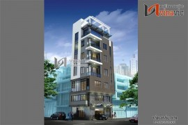 Mẫu nhà phố đẹp 7 tầng kết hợp kinh doanh phòng khám NO1405