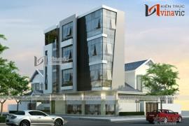 Mẫu thiết kế nhà phố đẹp 4 tầng kết hợp kinh doanh NO1613