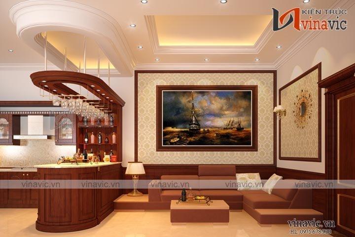 Mẫu thiết kế biệt thự tân cổ điển cùng nội thất sang trọng BT1511