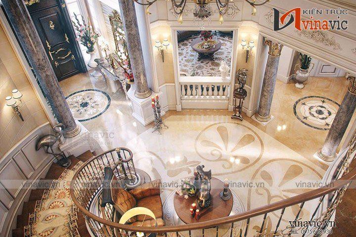 Thiết kế nội thất cổ điển sang trọng cho quý tộc Việt biệt thự NTB1600