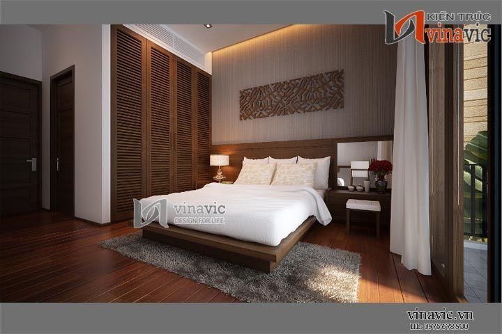 Thiết kế nội thất tinh tế của biệt thự hiện đại NTB1402