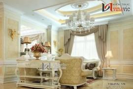Thiết kế nội thất tinh xảo biệt thự phong cách tân cổ điển NTB1406