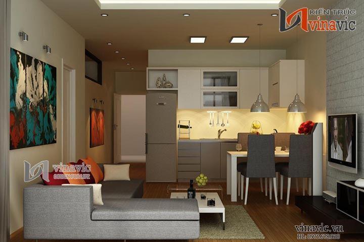 Nội thất chung cư đẹp NTC1417