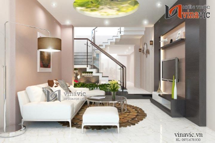 Tinh tế với mẫu thiết kế nội thất phong cách hiện đại NTO1407
