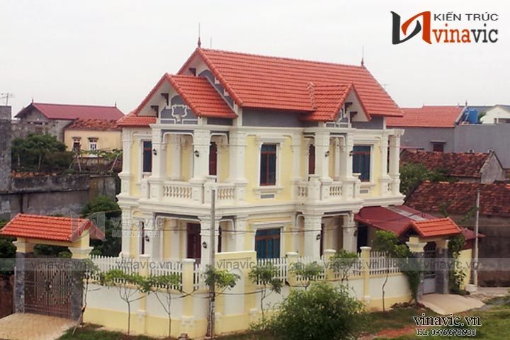 Xây nhà biệt thự đẹp 2 tầng tại Ứng Hòa – Hà Nội TCBT1600