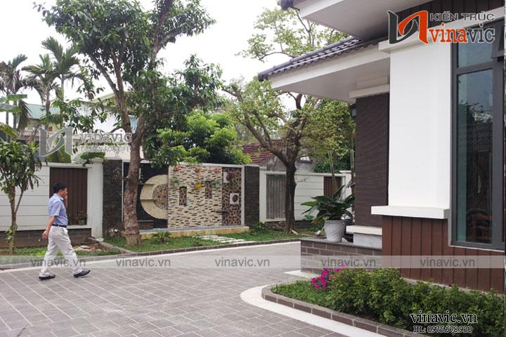 Xây dựng nhà biệt thự đẹp 3 tầng phong cách hiện đại TCBT1401