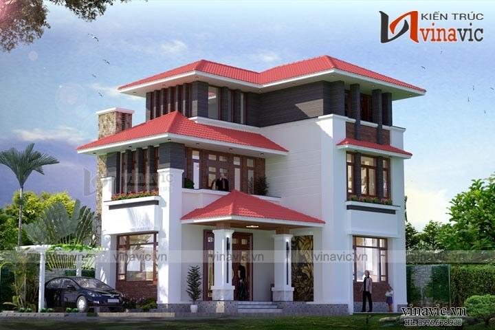 Mẫu nhà biệt thự đẹp 3 tầng hiện đại BT1650