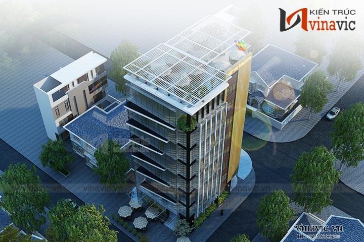 Mẫu thiết kế khách sạn văn phòng đẹp KSVP14