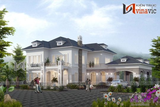 Biệt thự nhà vườn 2 tầng mái thái hiện đại ở Phú Quốc Kiên Giang BT1670