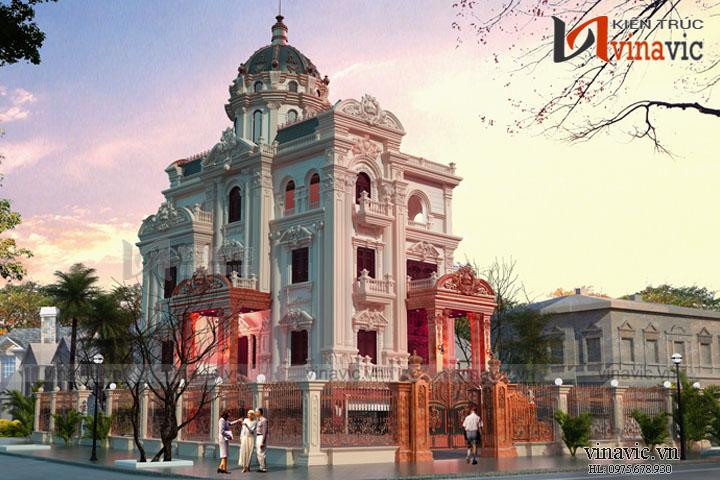 Mẫu thiết kế lâu đài kiến trúc cổ điển LDDT08