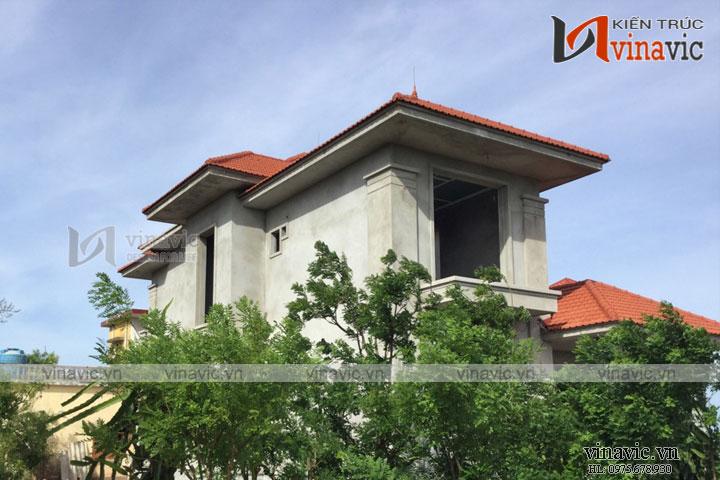 Hoàn thiện công trình biệt thự vườn với nghệ thuật tổ hợp mái thái kỳ diệu TCBT1660