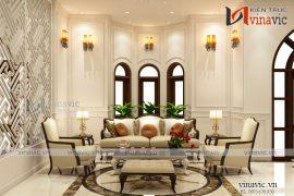 Trọn vẹn mẫu nội thất biệt thự 1 tầng tân cổ điển sang trọng NTBT1676