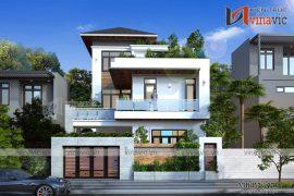 Mẫu thiết kế biệt thự 3 tầng phong cách hiện đại dành cho chủ nhà cá tính BT1695