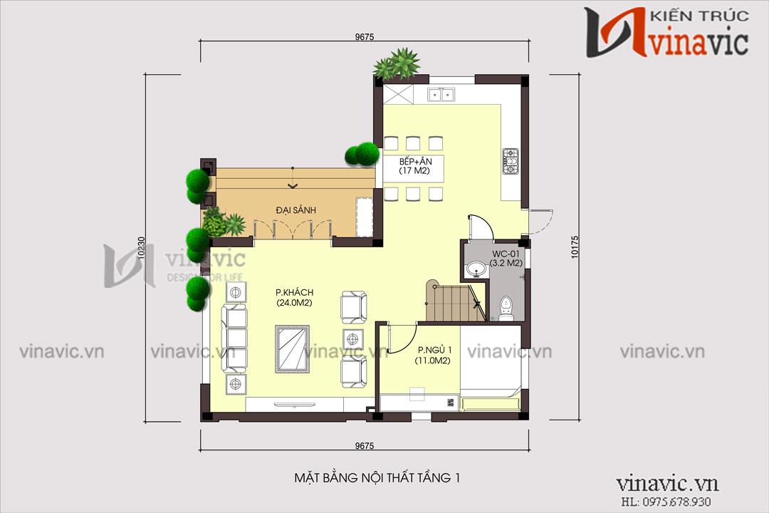 Mẫu thiết kế biệt thự 3 tầng mộc mạc cổ kính rất độc đáo  BT1801