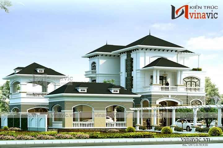 Mẫu thiết kế biệt thự 3 tầng cao cấp ở Đảo Phú Quốc- Kiên Giang BT1699