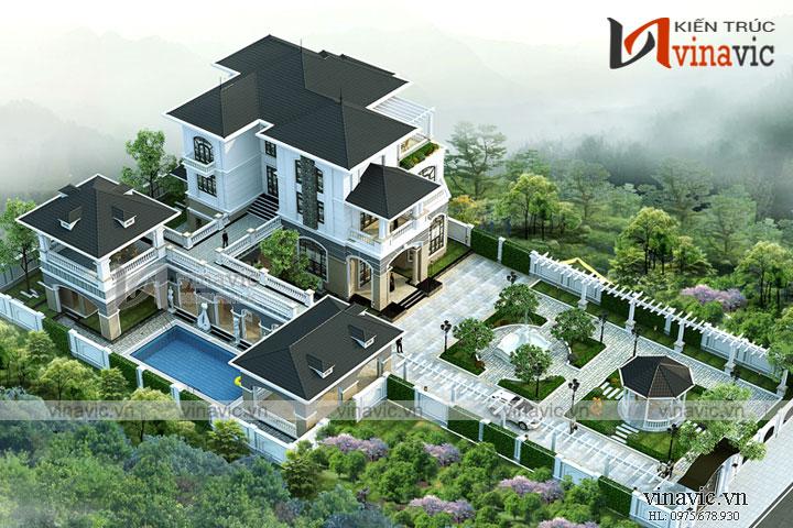 Mẫu thiết kế biệt thự 3 tầng công năng cao cấp BT1699