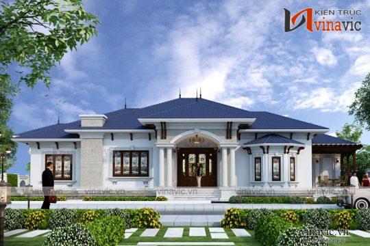 Thiết kế nhà vườn 250m2 4 phòng ngủ mặt tiền 16m ở Hậu Giang BT1804