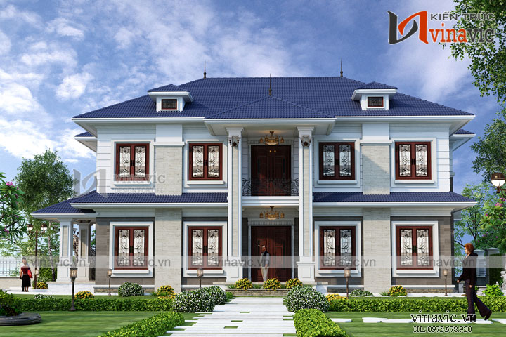 Mẫu biệt thự nhà xinh 2 tầng cao cấp BT1808