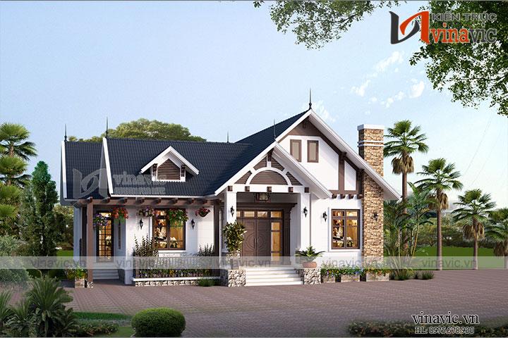 Ngắm nhìn mẫu nhà cấp 4 đẹp mắt ở Bắc Giang BT1813