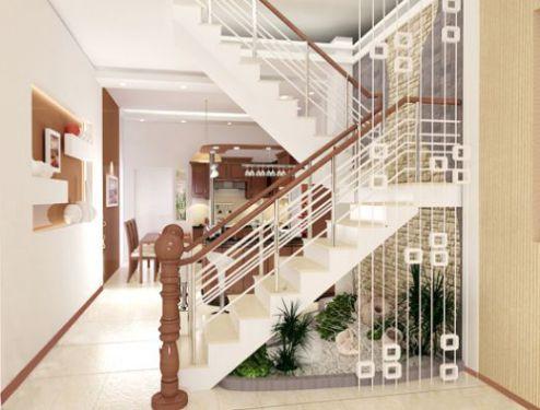 5. Thiết kế cầu thang ở trung tâm