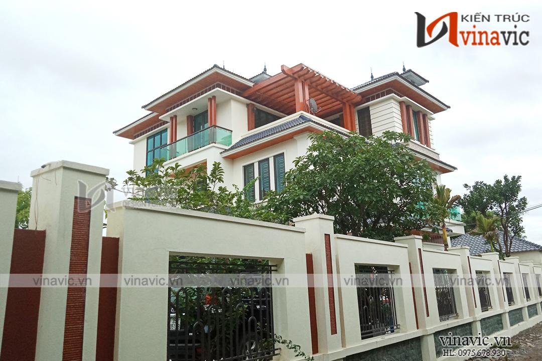 Hoàn thiện mẫu nhà biệt thự 3 tầng hiện đại TCBT1663