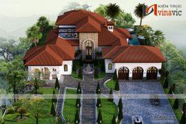 Mẫu thiết kế biệt thự nghỉ dưỡng kiến trúc Địa Trung Hải mới lạ sang trọng