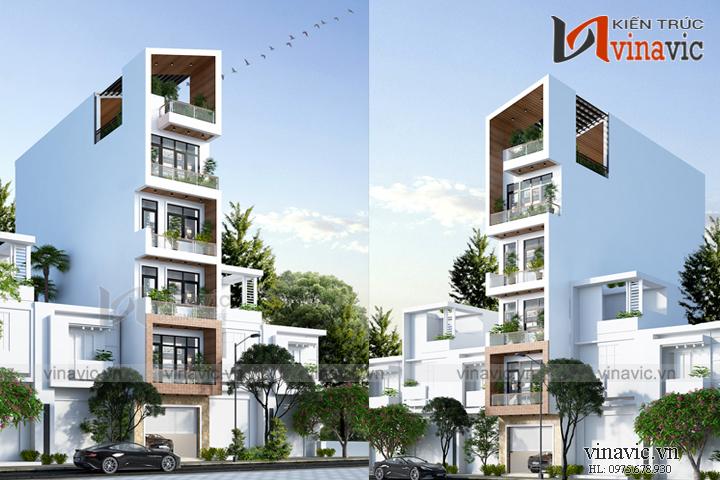 Mẫu thiết kế nhà phố 6 tầng hiện đại thanh thoát NO1818