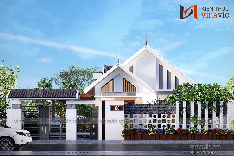 Mẫu thiết kế biệt thự 1.5 tầng kiến trúc hiện đại tại Đà Nẵng  BT1831