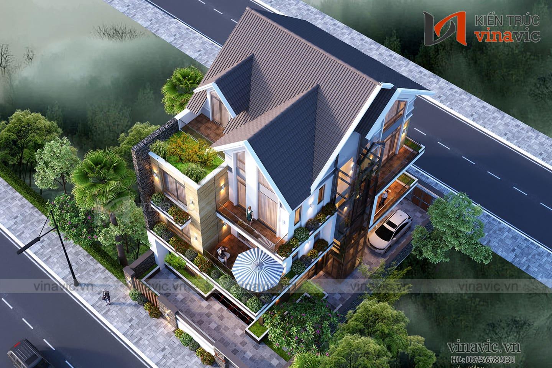 Mẫu thiết kế cải tạo biệt thự 3 tầng kiến trúc hiện đại BT1833